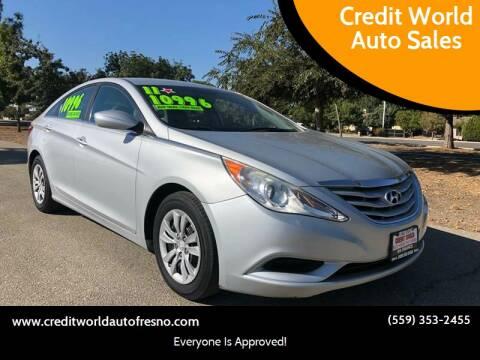 2011 Hyundai Sonata for sale at Credit World Auto Sales in Fresno CA