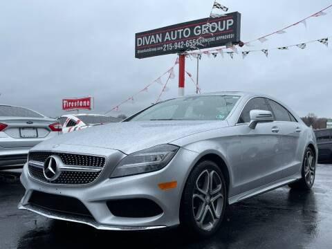 2015 Mercedes-Benz CLS for sale at Divan Auto Group in Feasterville Trevose PA