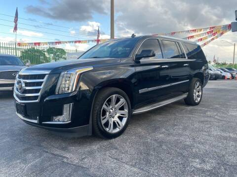 2015 Cadillac Escalade ESV for sale at ELITE AUTO WORLD in Fort Lauderdale FL