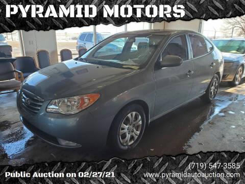 2010 Hyundai Elantra for sale at PYRAMID MOTORS - Pueblo Lot in Pueblo CO