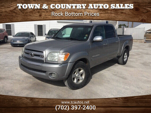 2005 Toyota Tundra for sale at TOWN & COUNTRY AUTO SALES in Overton NV