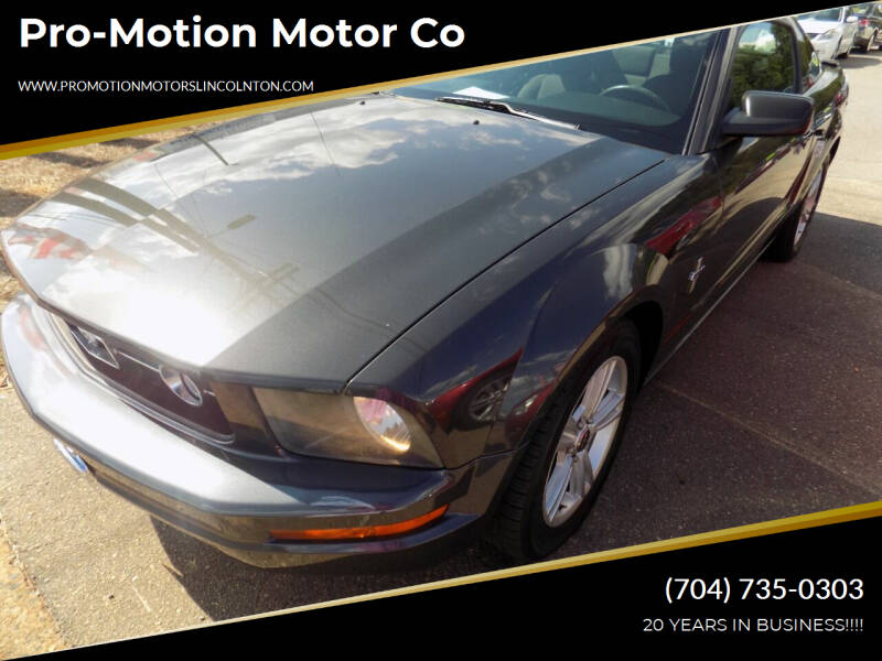 2008 Ford Mustang for sale at Pro-Motion Motor Co in Lincolnton NC