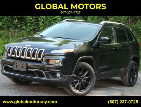 2014 Jeep Cherokee for sale at GLOBAL MOTORS in Binghamton NY
