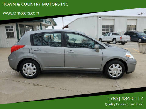 2012 Nissan Versa for sale at TOWN & COUNTRY MOTORS INC in Meriden KS