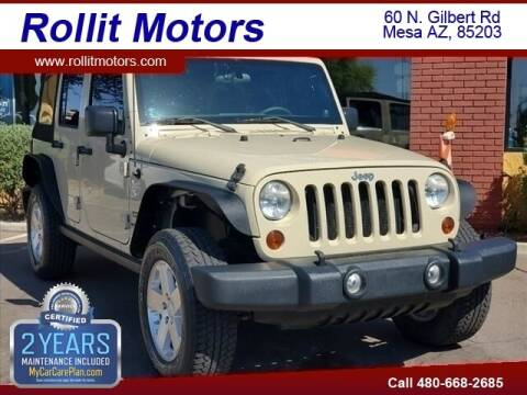 2011 Jeep Wrangler Unlimited for sale at Rollit Motors in Mesa AZ