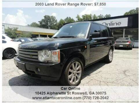 2003 Land Rover Range Rover for sale at Car Online in Roswell GA