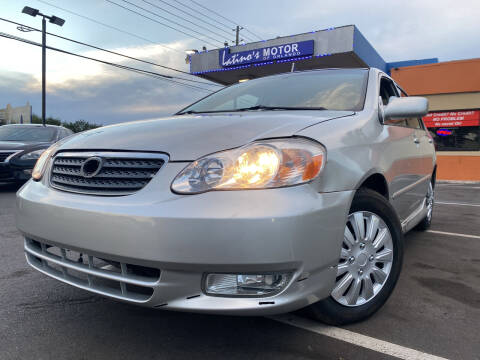 2003 Toyota Corolla for sale at LATINOS MOTOR OF ORLANDO in Orlando FL