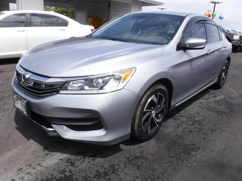2017 Honda Accord for sale at PONO'S USED CARS in Hilo HI