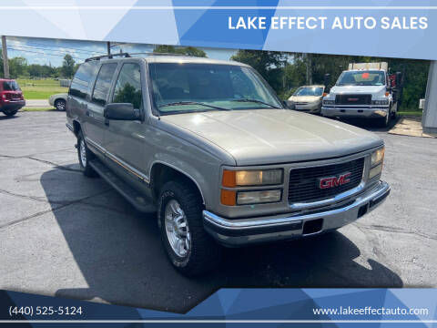 1998 GMC Suburban for sale at Lake Effect Auto Sales in Chardon OH