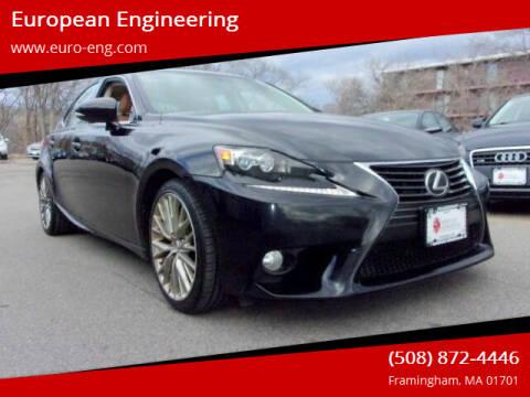 2014 Lexus IS 250 for sale at European Engineering in Framingham MA