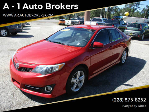 2012 Toyota Camry for sale at A - 1 Auto Brokers in Ocean Springs MS