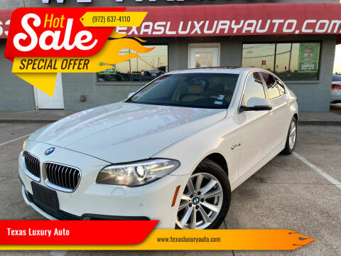 2015 BMW 5 Series for sale at Texas Luxury Auto in Cedar Hill TX