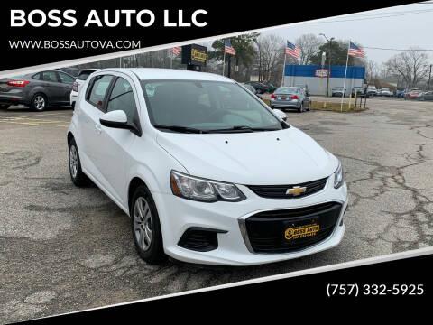 2017 Chevrolet Sonic for sale at BOSS AUTO LLC in Norfolk VA