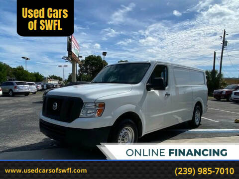 2016 Nissan NV Cargo for sale at Used Cars of SWFL in Fort Myers FL