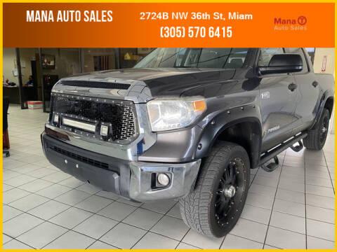 2014 Toyota Tundra for sale at MANA AUTO SALES in Miami FL