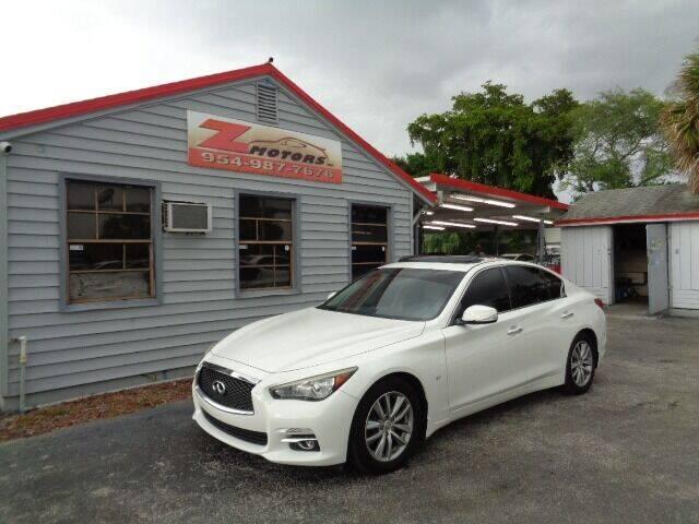 2015 Infiniti Q50 for sale at Z Motors in North Lauderdale FL