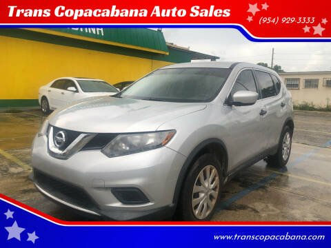 2016 Nissan Rogue for sale at Trans Copacabana Auto Sales in Hollywood FL