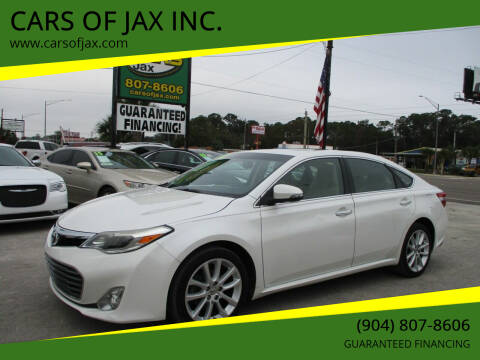 2014 Toyota Avalon for sale at CARS OF JAX INC. in Jacksonville FL