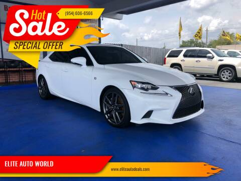 2016 Lexus IS 200t for sale at ELITE AUTO WORLD in Fort Lauderdale FL
