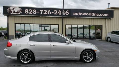 2004 Infiniti G35 for sale at AutoWorld of Lenoir in Lenoir NC