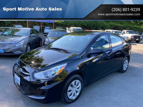 2016 Hyundai Accent for sale at Sport Motive Auto Sales in Seattle WA