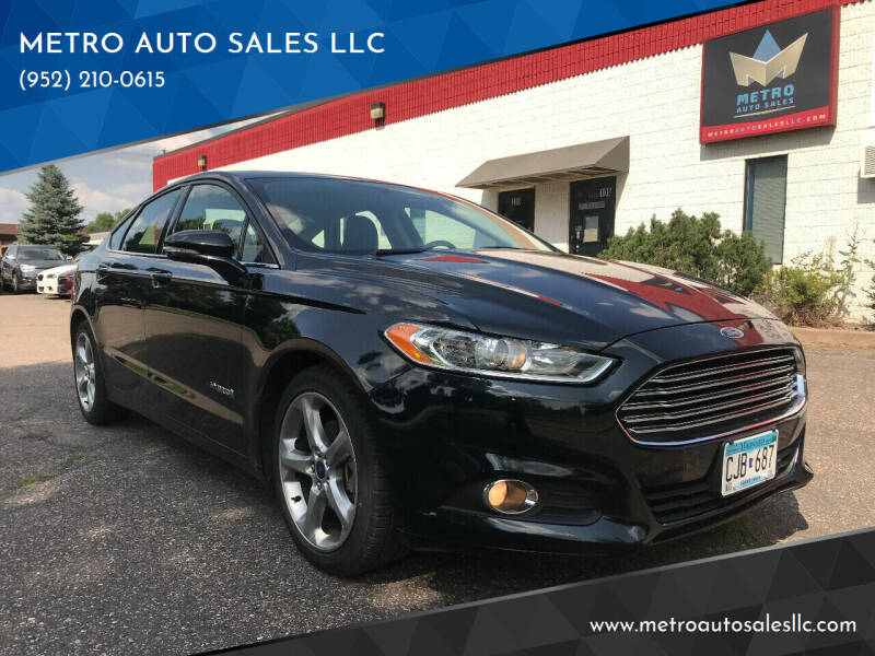 2014 Ford Fusion Hybrid for sale at METRO AUTO SALES LLC in Blaine MN