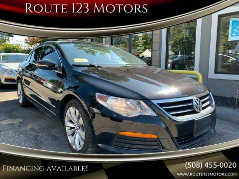 2012 Volkswagen CC for sale at Route 123 Motors in Norton MA