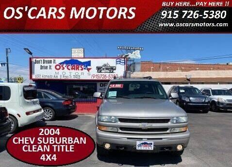 2004 Chevrolet Suburban for sale at Os'Cars Motors in El Paso TX