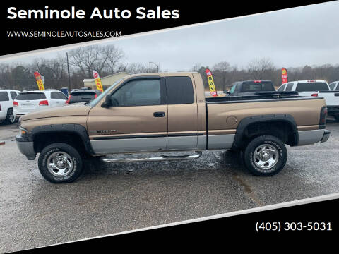 2001 Dodge Ram Pickup 1500 for sale at Seminole Auto Sales in Seminole OK