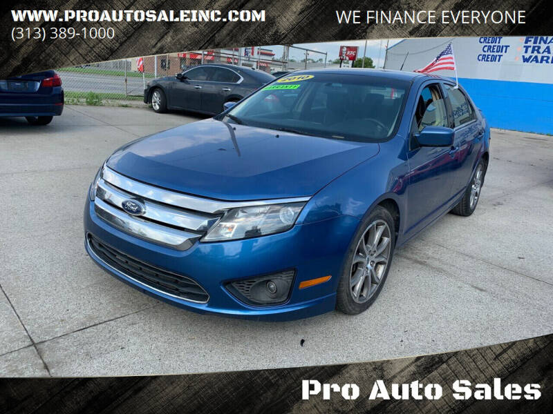 2010 Ford Fusion for sale at Pro Auto Sales in Lincoln Park MI