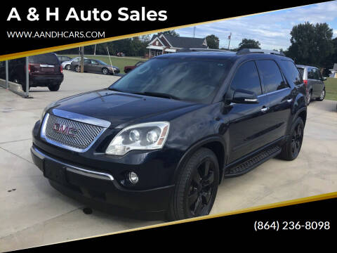 2012 GMC Acadia for sale at A & H Auto Sales in Greenville SC