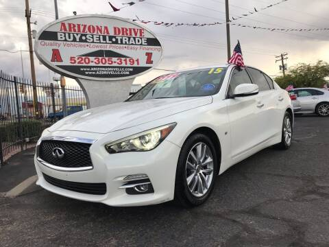 2015 Infiniti Q50 for sale at Arizona Drive LLC in Tucson AZ