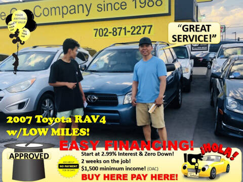 2007 Toyota RAV4 for sale at The Car Company in Las Vegas NV