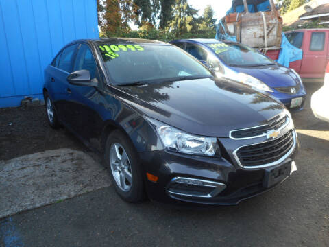 2016 Chevrolet Cruze Limited for sale at Lino's Autos Inc in Vancouver WA