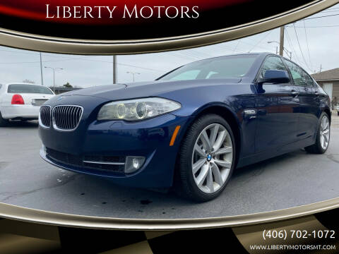 2012 BMW 5 Series for sale at Liberty Motors in Billings MT