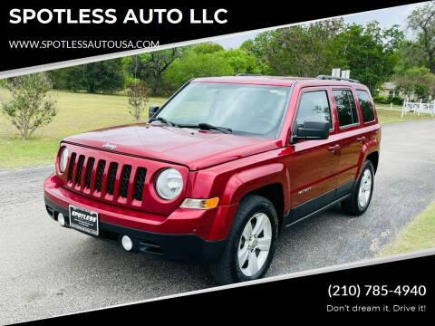 2016 Jeep Patriot for sale at SPOTLESS AUTO LLC in San Antonio TX