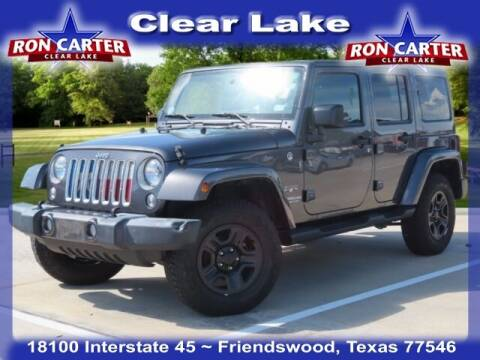 2016 Jeep Wrangler Unlimited for sale at Ron Carter  Clear Lake Used Cars in Houston TX
