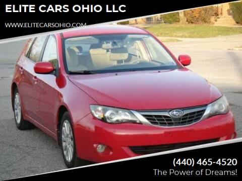 2008 Subaru Impreza for sale at ELITE CARS OHIO LLC in Solon OH