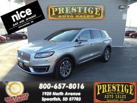 2020 Lincoln Nautilus for sale at PRESTIGE AUTO SALES in Spearfish SD