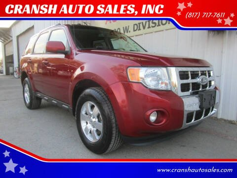 2012 Ford Escape for sale at CRANSH AUTO SALES, INC in Arlington TX