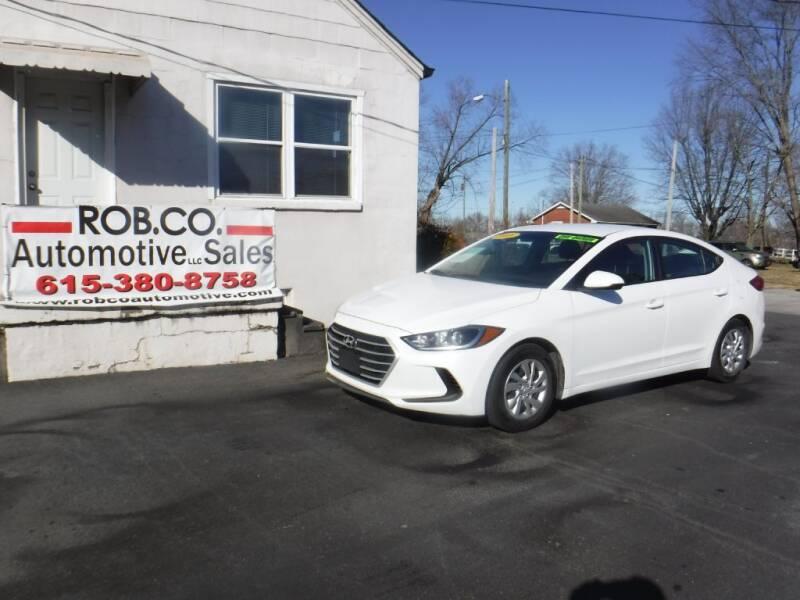 2018 Hyundai Elantra for sale at Rob Co Automotive LLC in Springfield TN