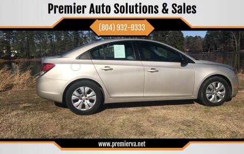 2013 Chevrolet Cruze for sale at Premier Auto Solutions & Sales in Quinton VA