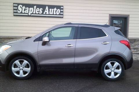 2015 Buick Encore for sale at STAPLES AUTO SALES in Staples MN