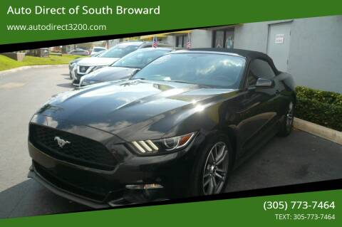 2017 Ford Mustang for sale at Auto Direct of South Broward in Miramar FL