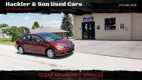 2012 Honda Civic for sale at Hackler & Son Used Cars in Red Lion PA