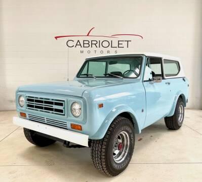 1978 International HARVESTER SCOUT II for sale at Cabriolet Motors in Morrisville NC