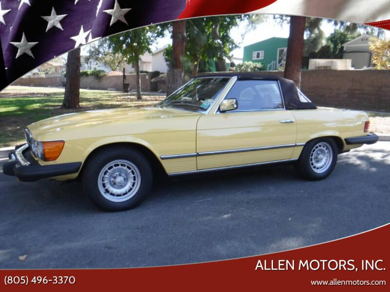 1979 Mercedes-Benz 450 SL for sale at Allen Motors, Inc. in Thousand Oaks CA