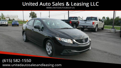 2015 Honda Civic for sale at United Auto Sales & Leasing LLC in La Vergne TN