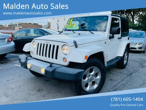 2015 Jeep Wrangler for sale at Malden Auto Sales in Malden MA
