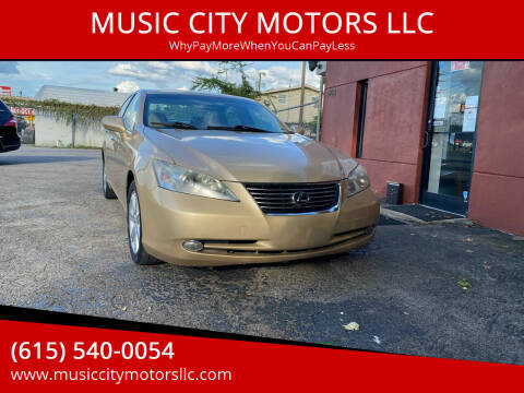 2008 Lexus ES 350 for sale at MUSIC CITY MOTORS LLC in Nashville TN
